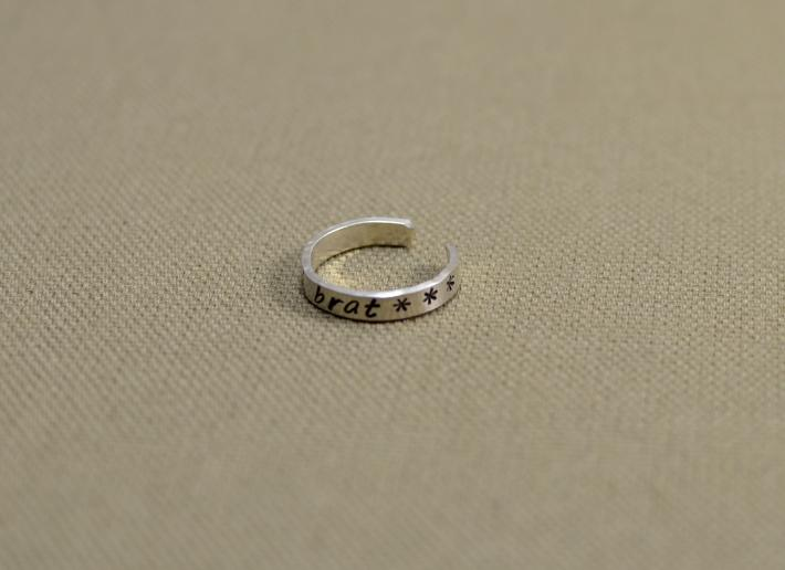 Spoiled brat sterling silver toe ring
