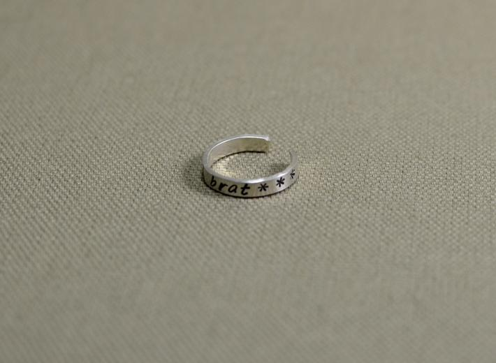Spoiled brat sterling silver toe ring