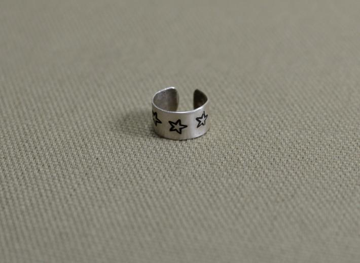 Sterling silver ear cuff with stars