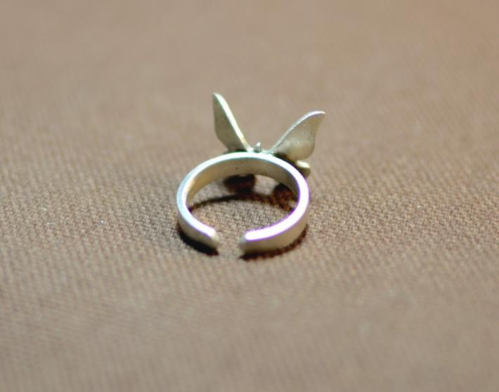 Butterfly sterling silver knuckle ring