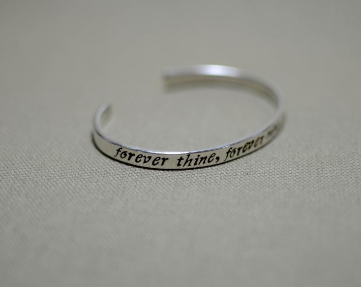 Forever thine forever mine forever ours sterling silver bracelet