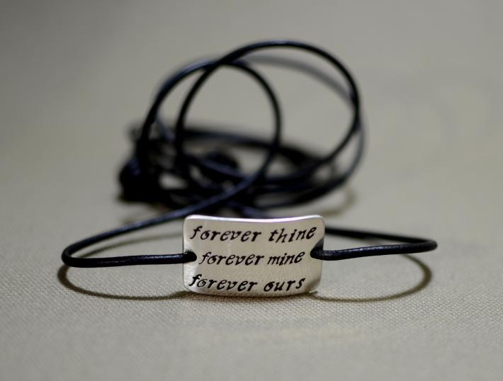 Forever thine forever mine sterling silver wrap bracelet