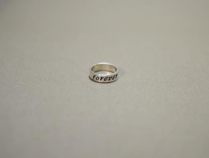 Sterling silver forever ring