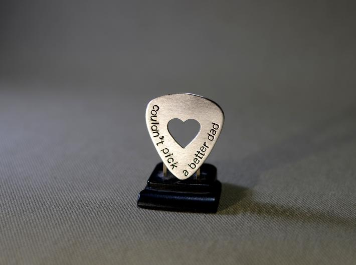Sterling silver couldnt pick a better dad guitar pick with heart