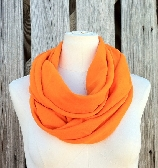 Infinity Scarf SOLE GRANDE All Season Scarf in MANDARIN Orange Tangerine Tango Available in Many Colors Unisex
