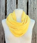 Infinity Scarf SOLE GRANDE Summer Spring Loop Scarf in LEMON Zest Yellow