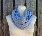 Infinity Scarf The SOLE GRANDE Versatile Loop Scarf in FOSSIL Med Gray Heather