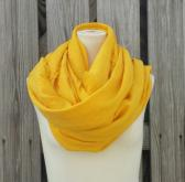 Long LINEN SCARF in Happy Sunflower YELLOW Spring Summer Scarf