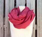 Long LINEN SCARF in BLUSH Pink Red Rouge Spring Summer Scarf