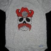 Sheriff Skull onesie 6 to 9 months