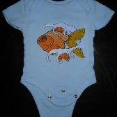 Goldfish onesie 0 to 3 months