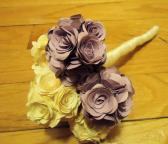 Lilac and Ivory Rose Bouquet