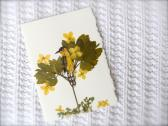 Bird Pressed Flowers Card