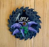 Painted Saw Blade HOME Lilacs