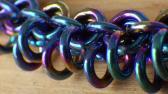 Niobium rainbow Bracelet 22cm
