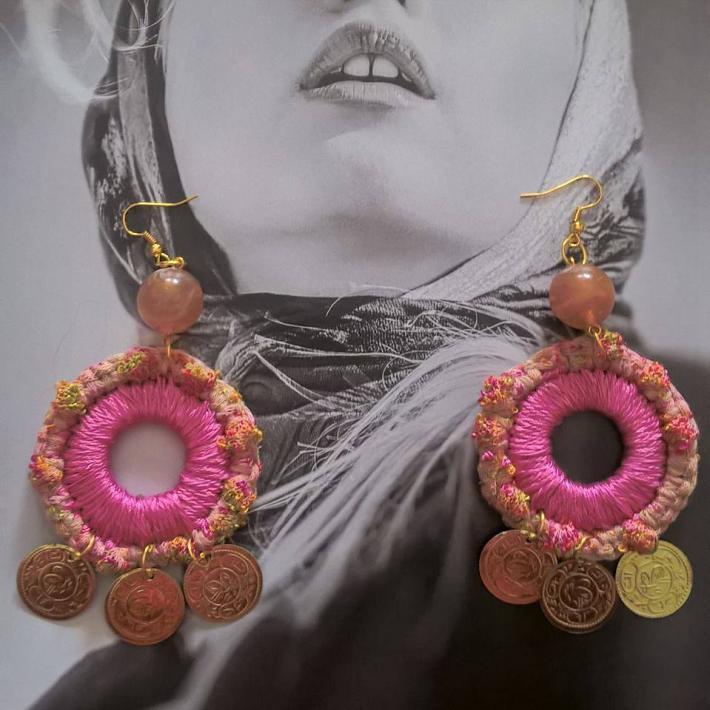 knitted earrings