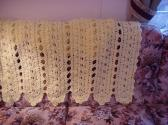 Crocheted Yellow Filigree Fantasy Afghan AF7534A
