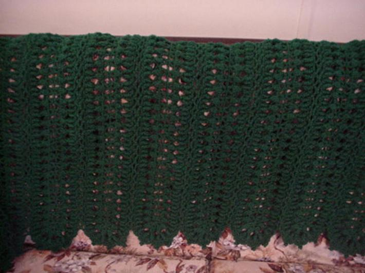 Crocheted Lavish Texture Paddy Green Afghan AF4288A