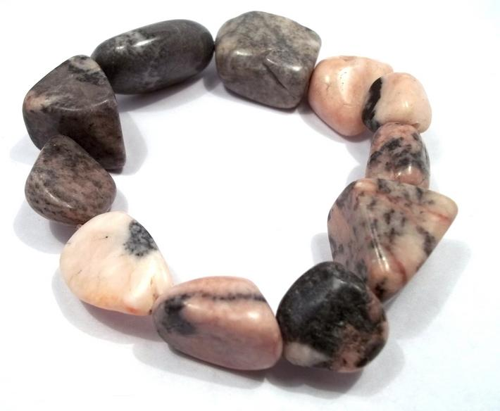 Pink Desert Marble Nugget Stretch Bracelet BE1558