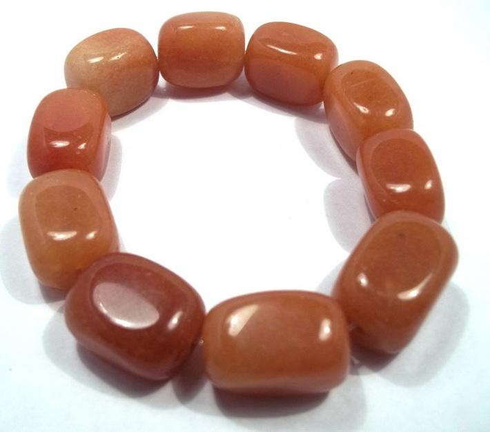 Red Aventurine Nugget Stretch Bracelet BE1913