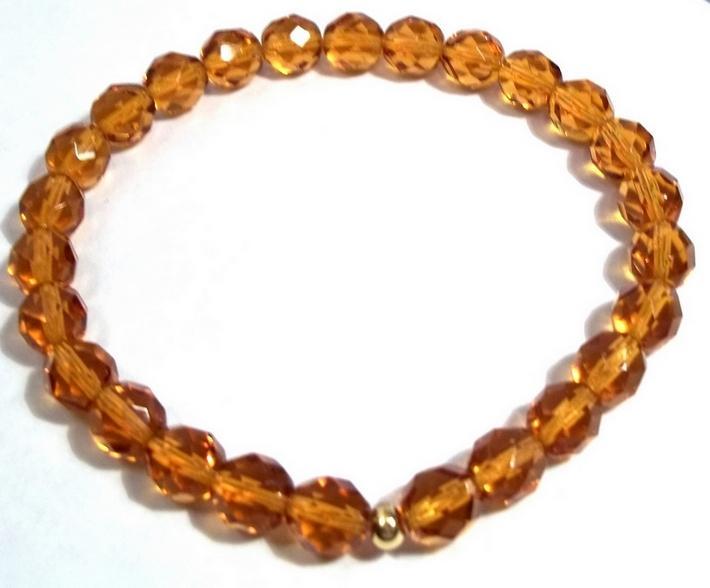 Gold Crystal Stretch Bracelet BE1837