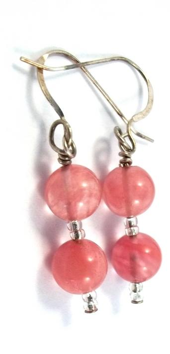 Cherry Quartz Dangle Earrings BE1364