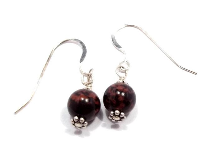 Mahogany Obsidian Earrings BE1490