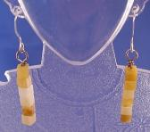 Golden Jade Cube Earrings Gemstone Earrings BE1319