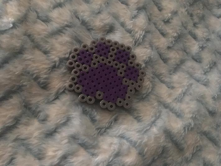 Paw print perler bead keychains